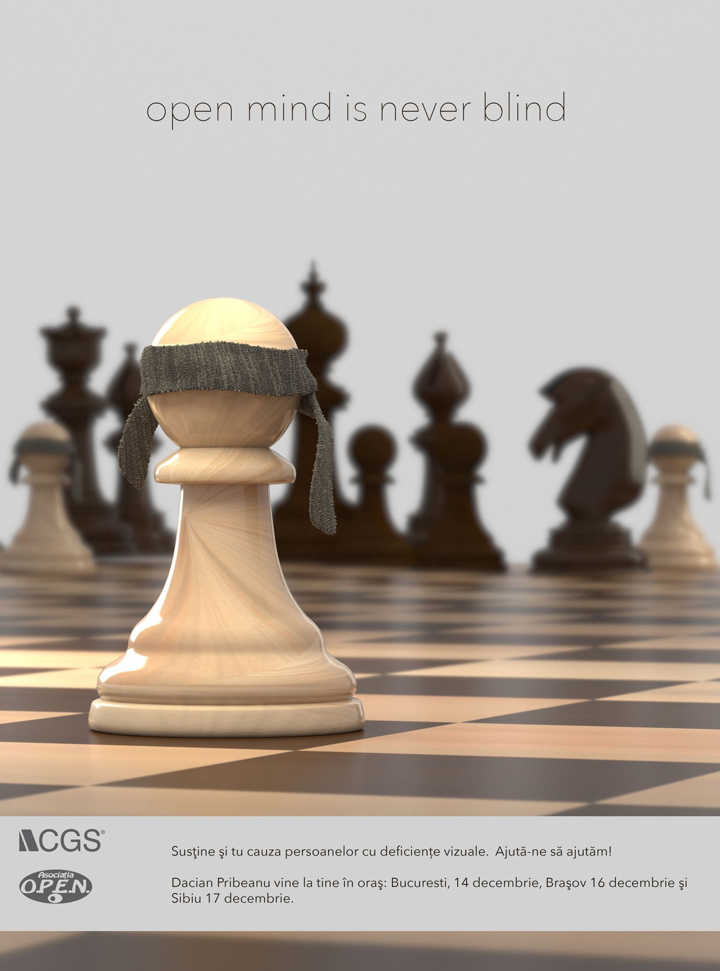 Open mind is never blind poster 3d layout design chess contest project description biocorpaavc Gallery